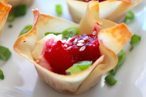Turkey Cranberry Cream Cheese Wontons