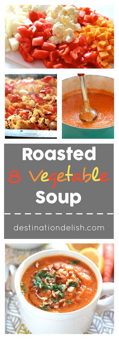 Roasted 8 Vegetable Soup