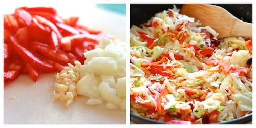 Warm Asian Slaw with Slow Cooker Teriyaki Chicken