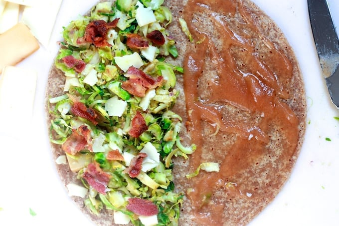 Brussels Sprout, Bacon, and Gruyere Quesadillas