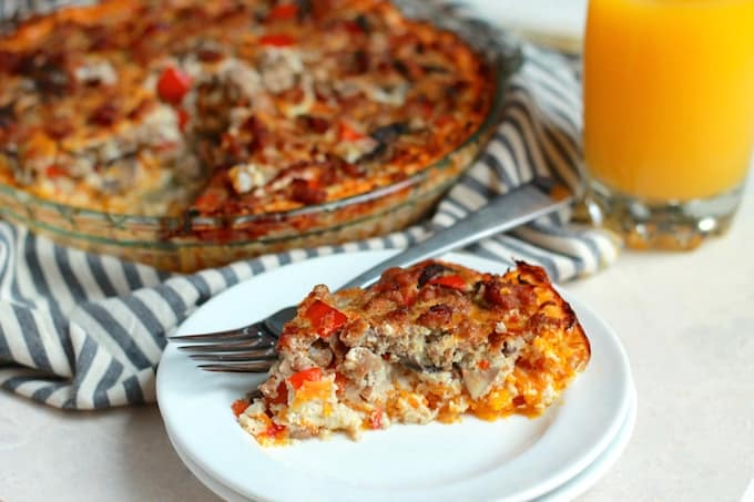 Italian Butternut Squash Quiche | Destination Delish