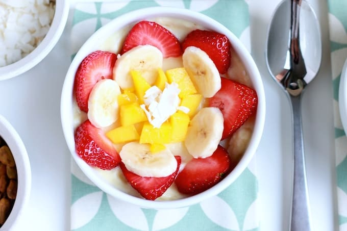 Frosted Pineapple Smoothie Bowls