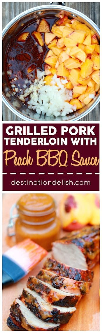Grilled Pork Tenderloin with Peach BBQ Sauce