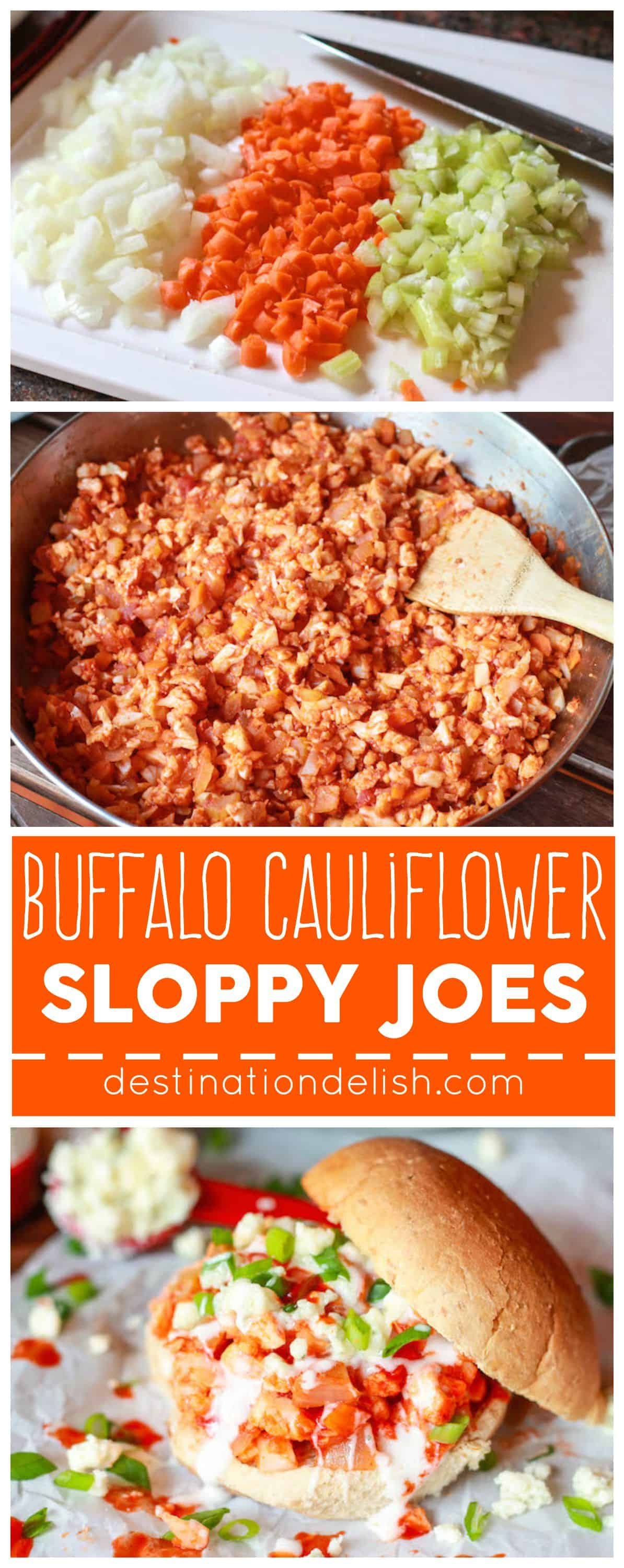 Buffalo Cauliflower Sloppy Joes