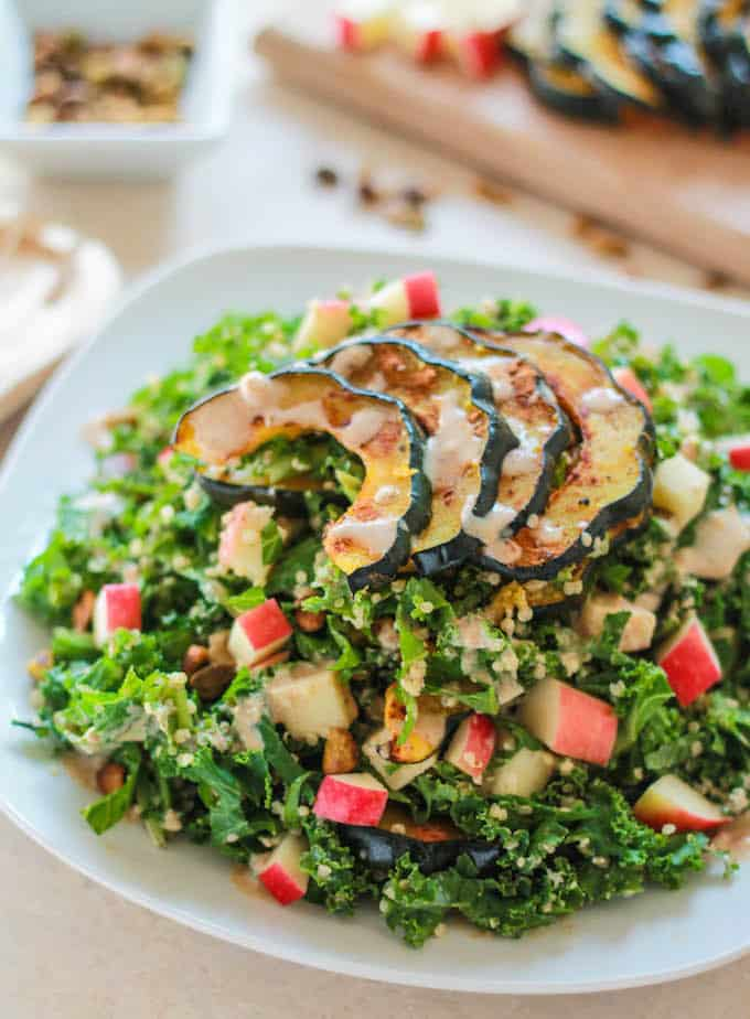 Fall Harvest Quinoa and Kale Salad