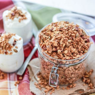Pumpkin Spice Pecan Granola | Destination Delish