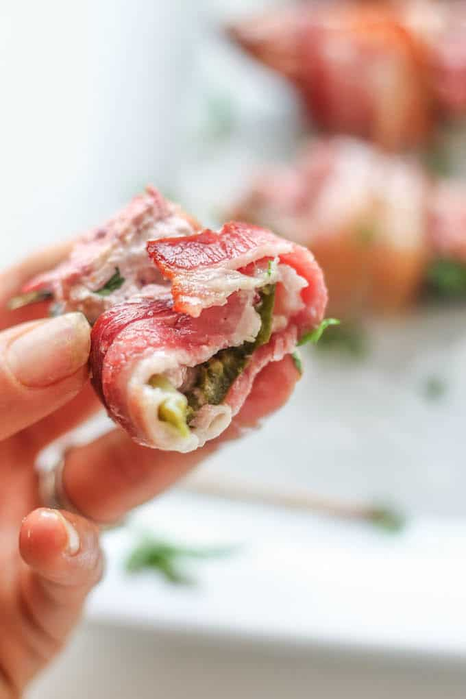 Bacon Wrapped Cranberry Jalapeño Poppers | Destination Delish