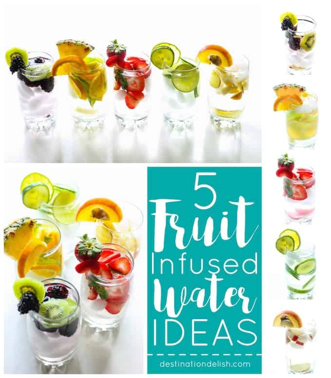 Fruit-Infused Water Ideas | Destination Delish – jazz up your water with these fun, fruity, and refreshing combinations!